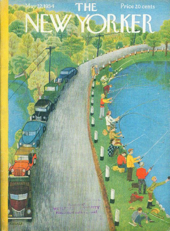 New Yorker cover Karasz Opening day of fishing season 5/22 1954