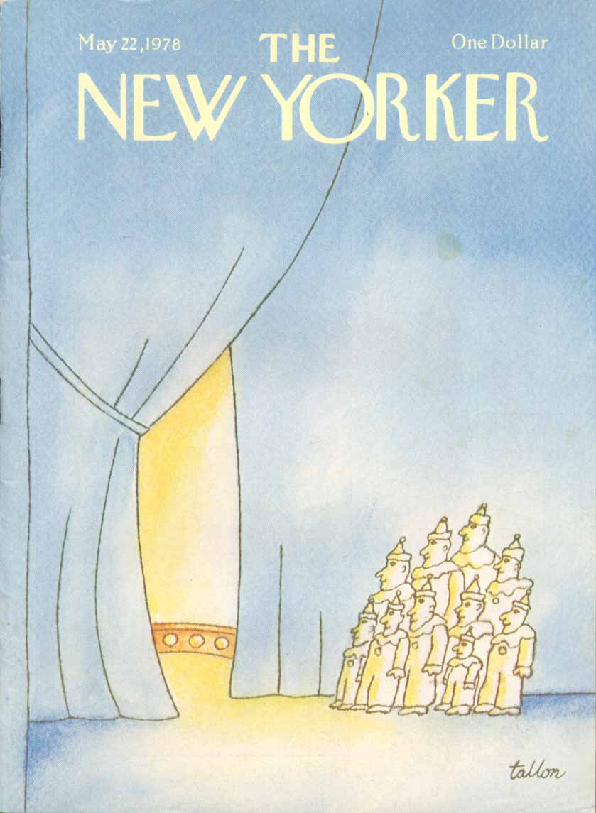 New Yorker cover Tallon clown act ready 5/22 1978