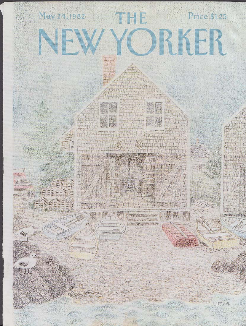 New Yorker cover CEM lobster boathouse 5/24 1982