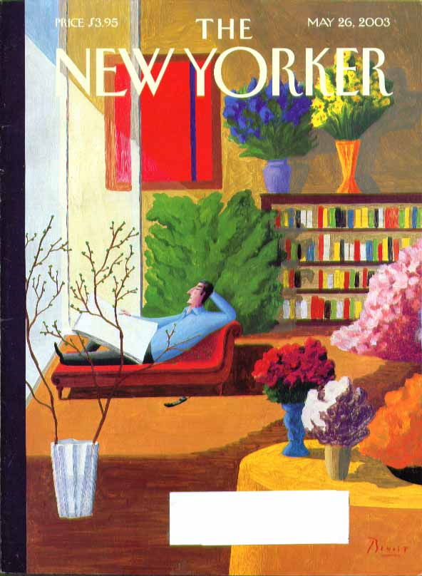 New Yorker cover Benoit Van Inniss colorful flat window view 5/26 2003