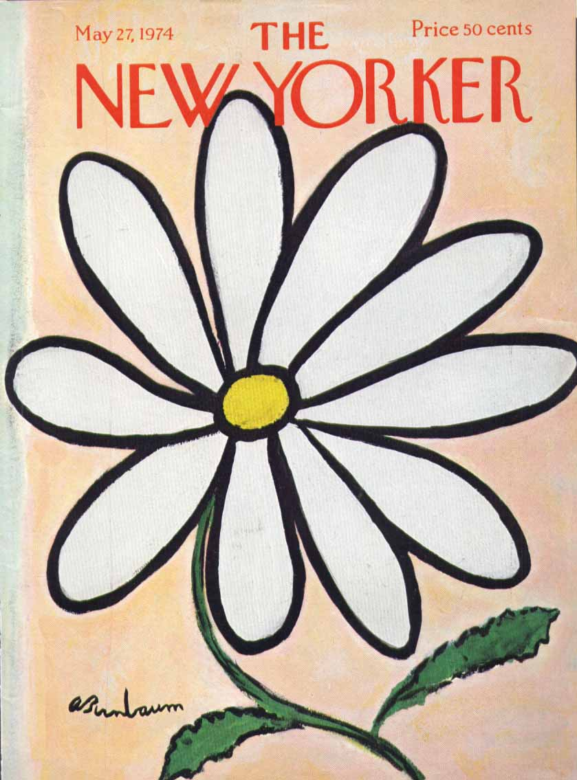 New Yorker cover Birnbaum huge daisy 5/27 1974