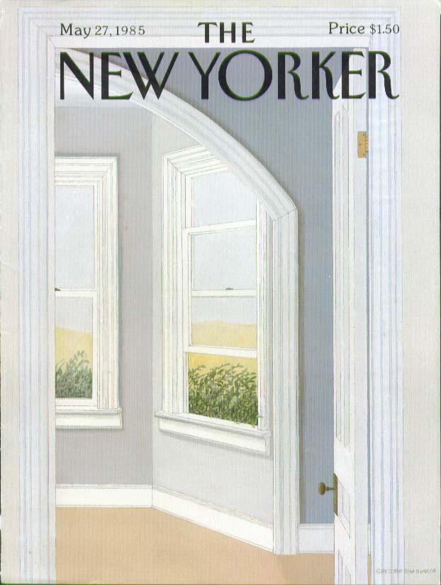 New Yorker cover Simpson door to bay window 5/27 1985