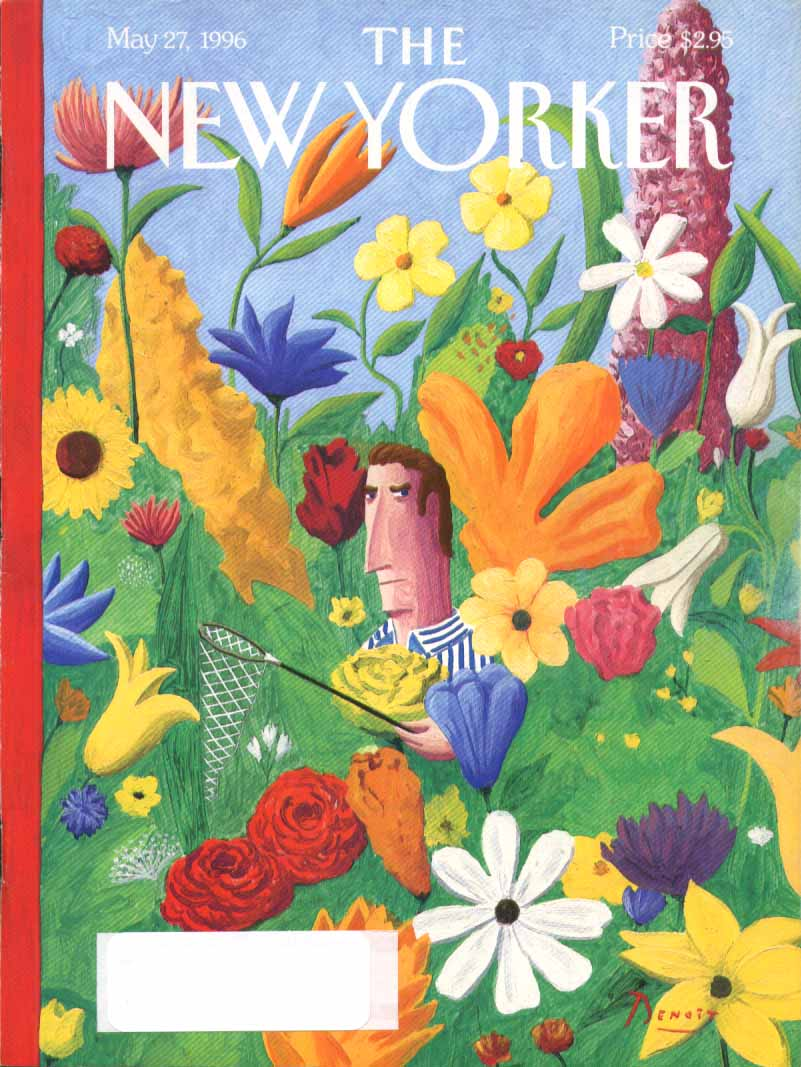 New Yorker cover Benoit butterfly net foiled 5/27 1996