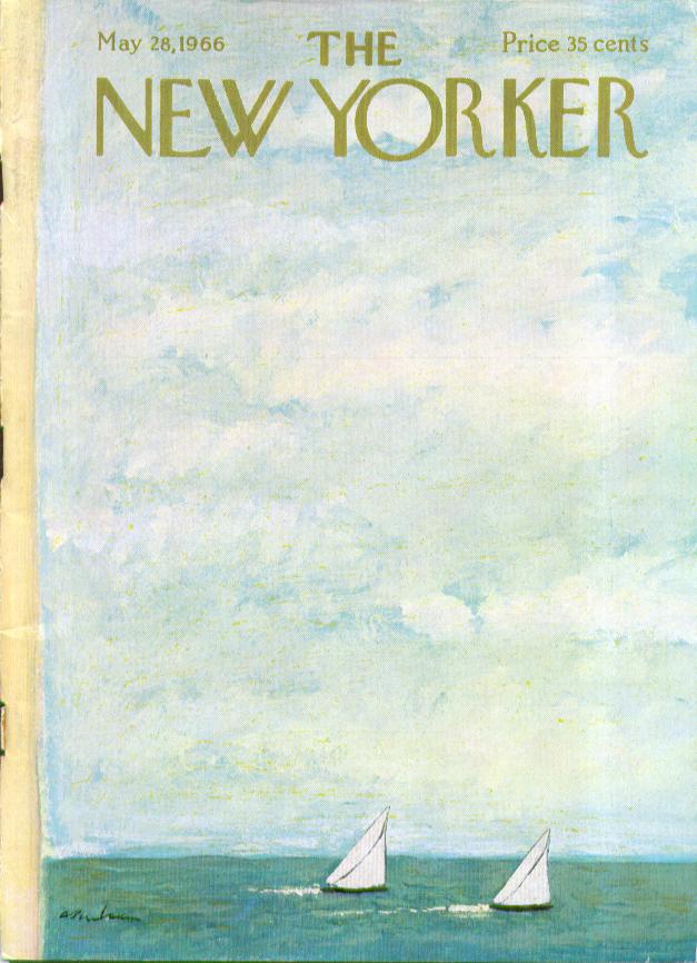 New Yorker cover Birnbaum sailboat big sky 5/28 1966