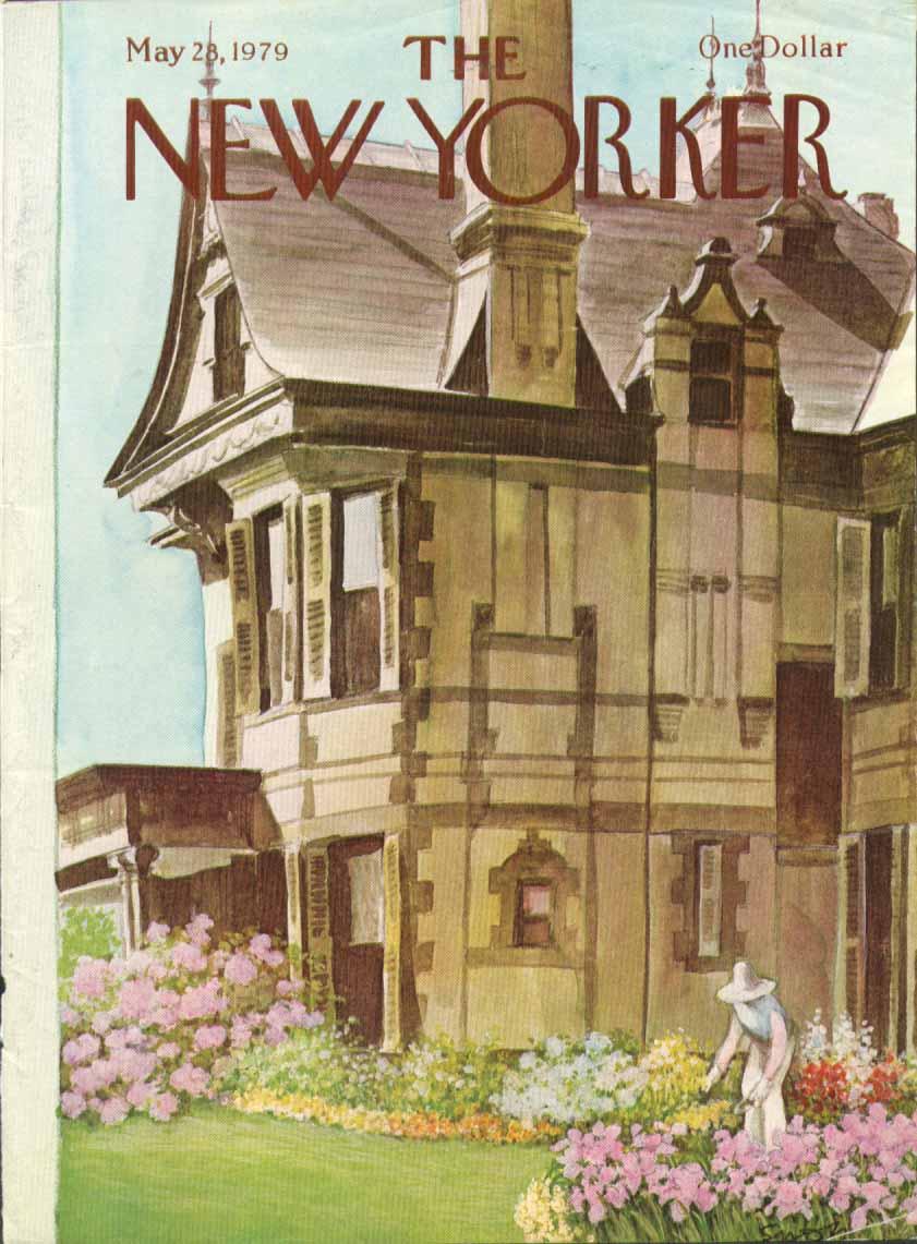 New Yorker cover Saxon Hamptons gardening 5/28 1979