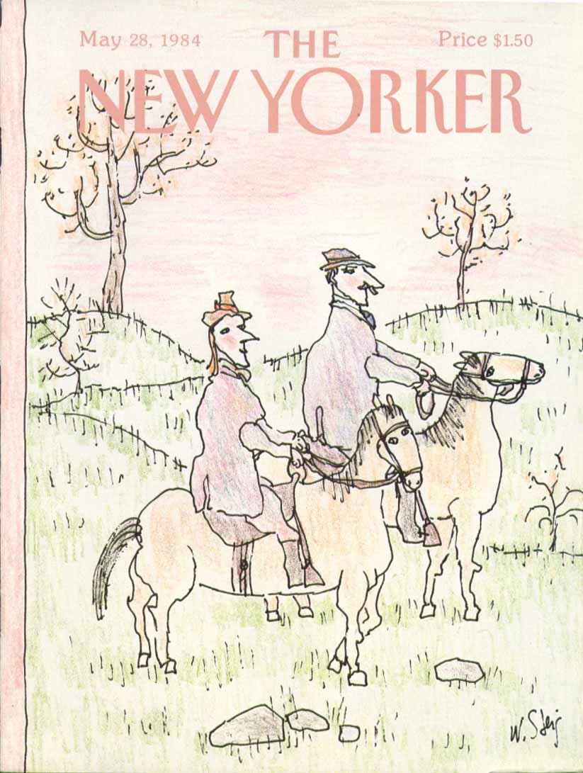 New Yorker cover Steig man & woman horseback 5/28 1984