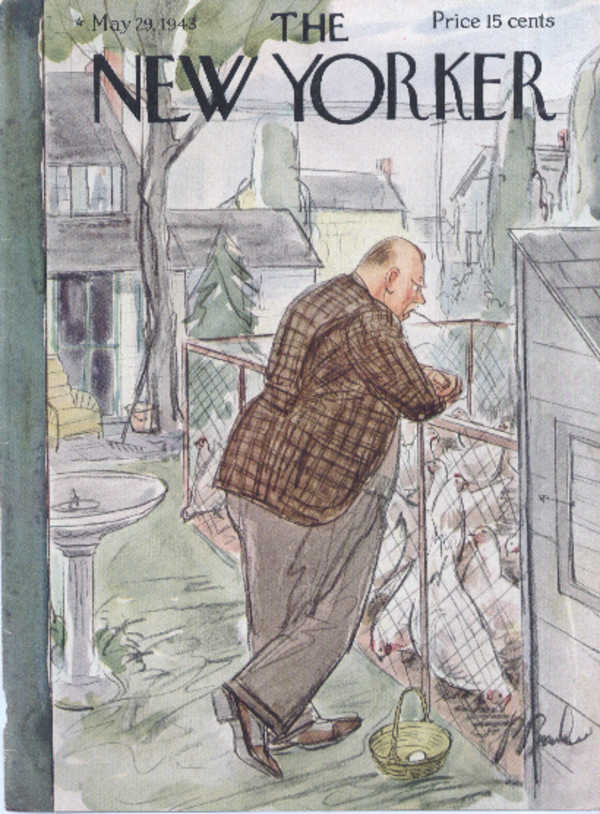 New Yorker cover Barlow suburban farmer 5/29 1943