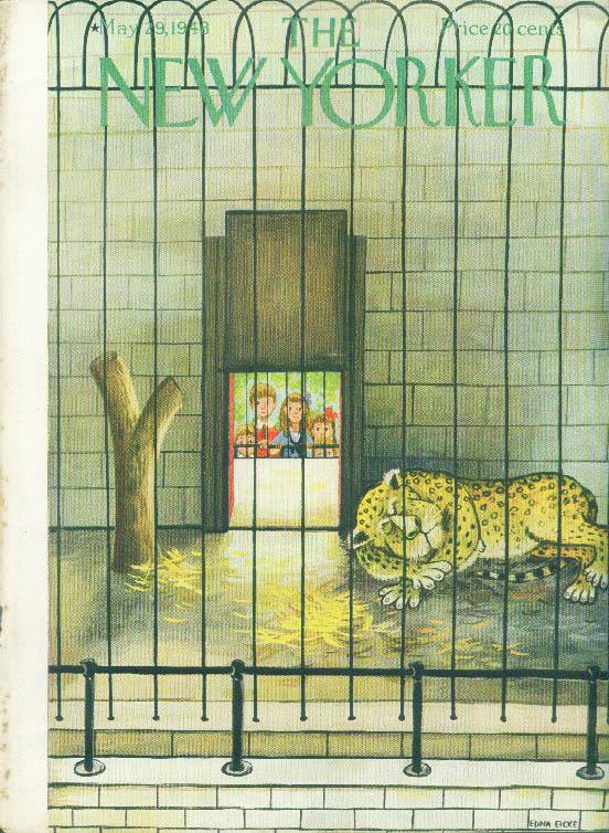 Image for New Yorker cover Eicke leopard sleeps inside 5/29 1948