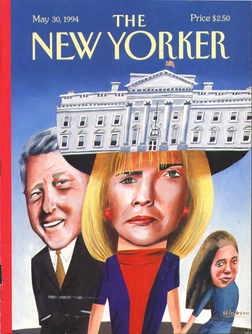 New Yorker cover Ulriksen Clinton White House 5/30 1994