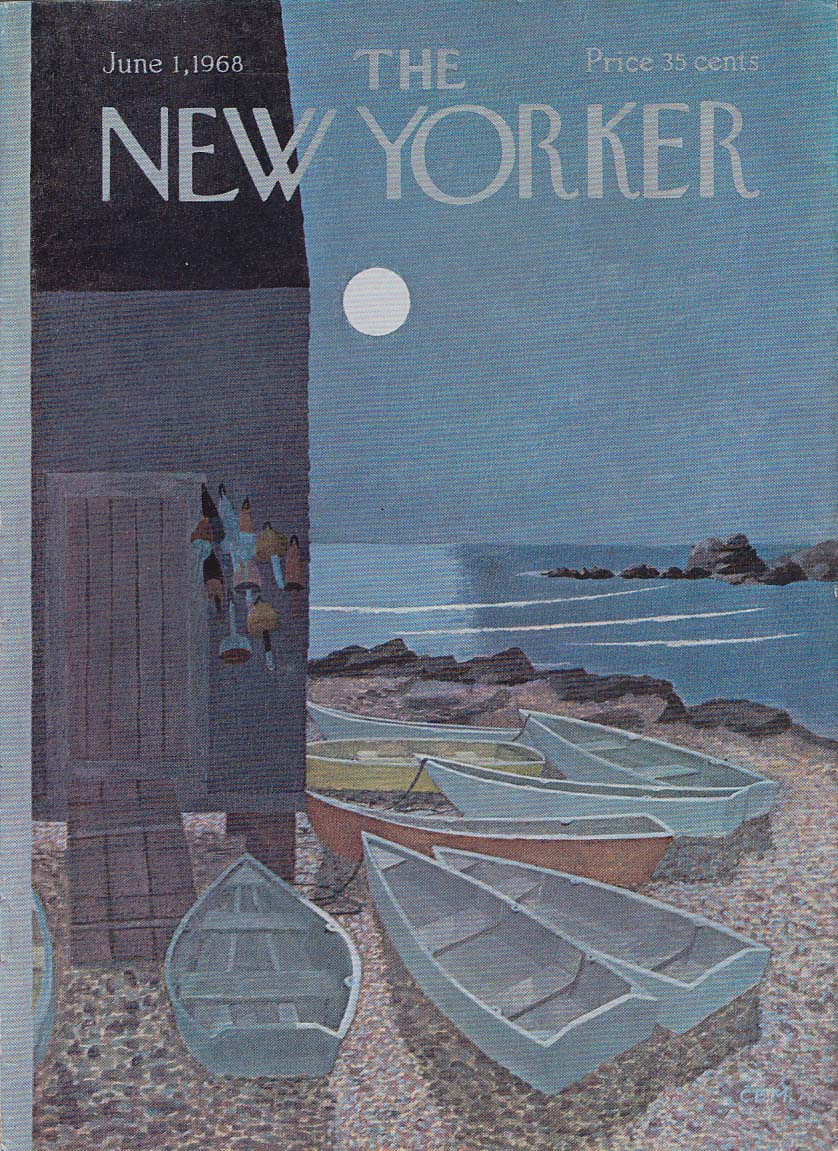 New Yorker cover CEM beached boats night 6/1 1968