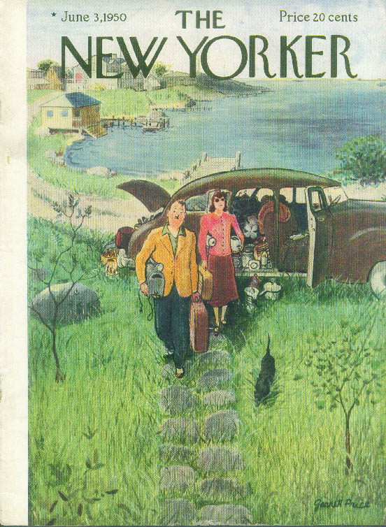 New Yorker cover Price lakeside picnic 6/3 1950