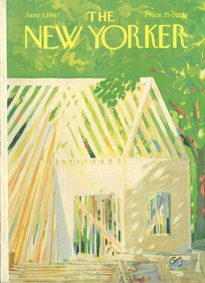 Image for New Yorker cover Getz house under contruction 6/3 1967