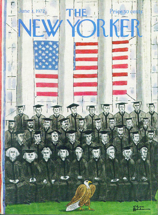 New Yorker cover Addams 37 Presidents pose 6/3 1972