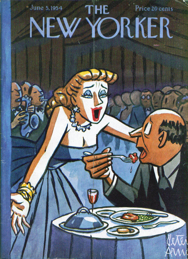 New Yorker cover Arno interruption at dinner 6/5 1954