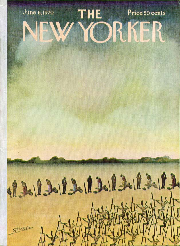 New Yorker cover Steinberg multiple gleaners multiple painters 6/6 1970