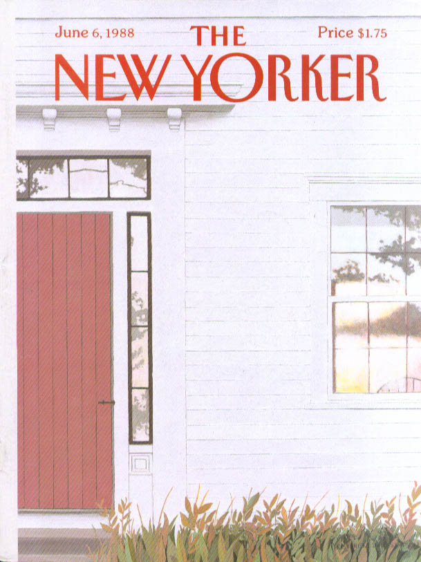 New Yorker cover Simpson Colonial house sunset 6/6 1988