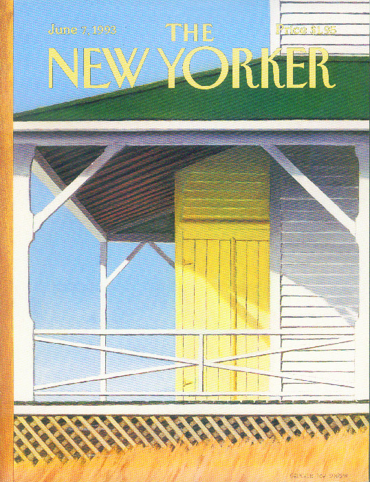 New Yorker cover Simpson beach cottage 6/7 1993