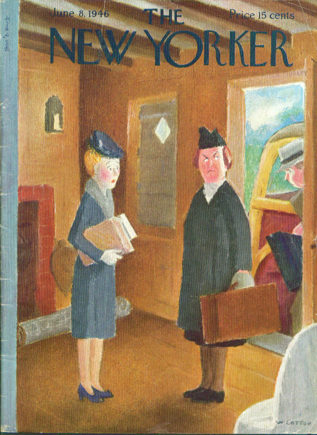 New Yorker cover Cotton angry ladies 6/8 1946