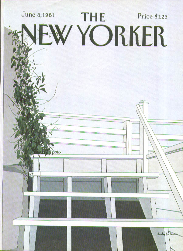 Image for New Yorker cover Simpson wooden stairs and ivy 6/8 1981