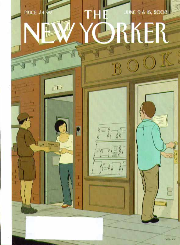 Image for New Yorker cover Tomine Amazon delivers book next to bookshop! 6/9 6/16 2008