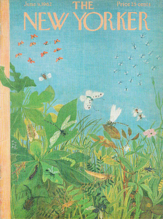 New Yorker cover Karasz foliage rife & insects 6/9 1962