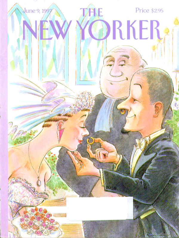 Image for New Yorker cover Riemann nose rings wedding 6/9 1997