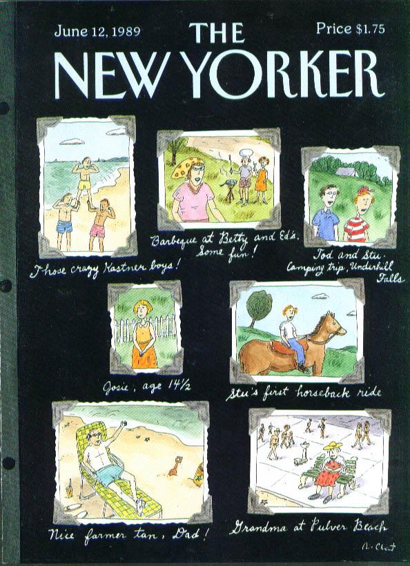 New Yorker cover Chast snapshot album 6/12 1989
