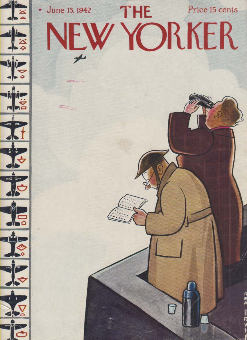 New Yorker cover Irvin rooftop aircraft spotters 6/13 1942