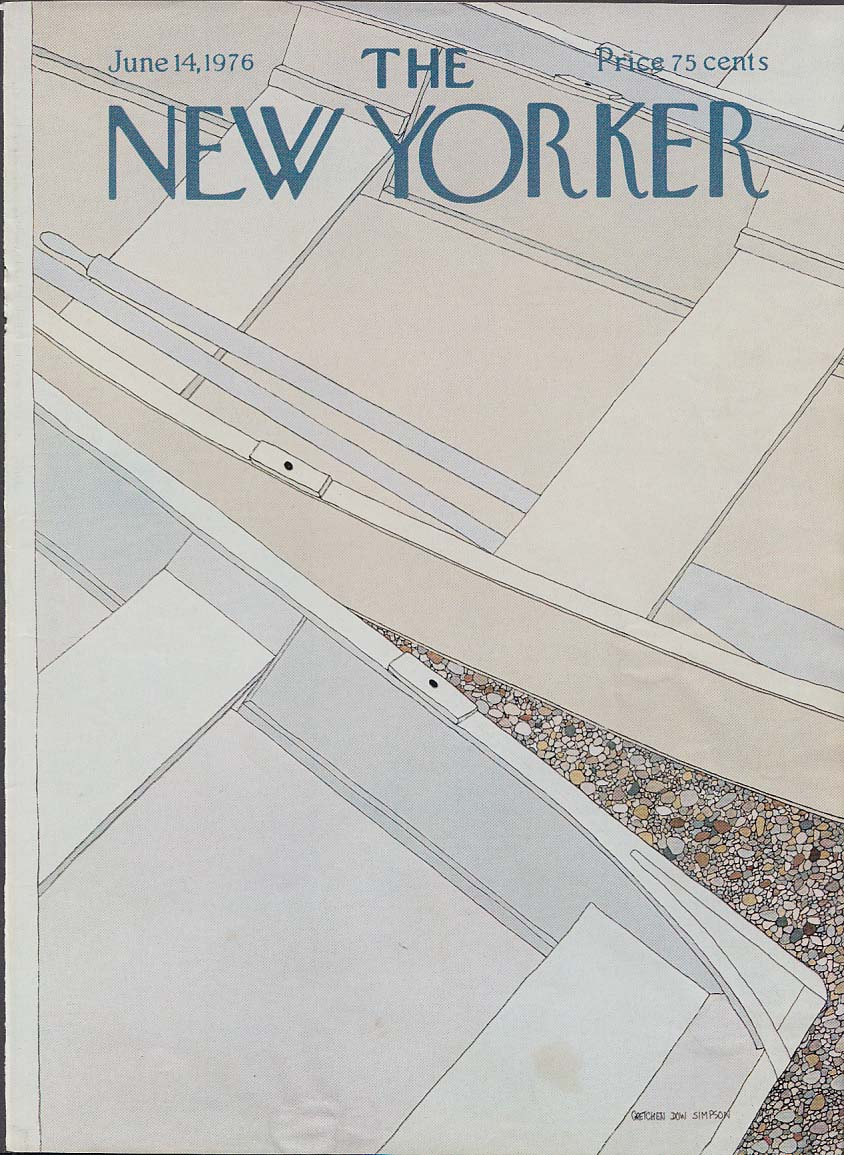 New Yorker cover Simpson rowboats 6/14 1976
