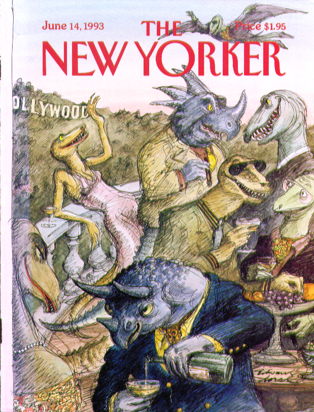 New Yorker cover Sorel Hollywood dinosaurs 6/14 1993