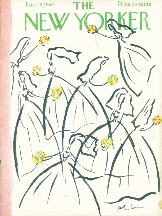 New Yorker cover Birnbaum brides & bouquets 6/16 1962