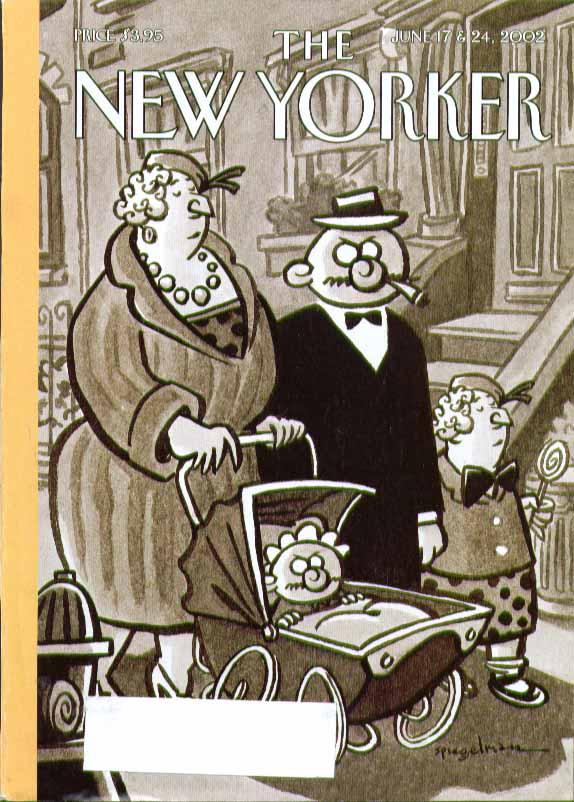 Image for New Yorker cover Spiegelman cartoon parents match kids exactly 6/17 & 6/24 2002