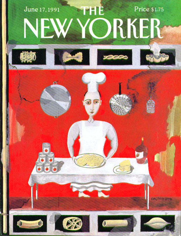 Image for New Yorker cover Young pasta chef fresco 6/17 1991