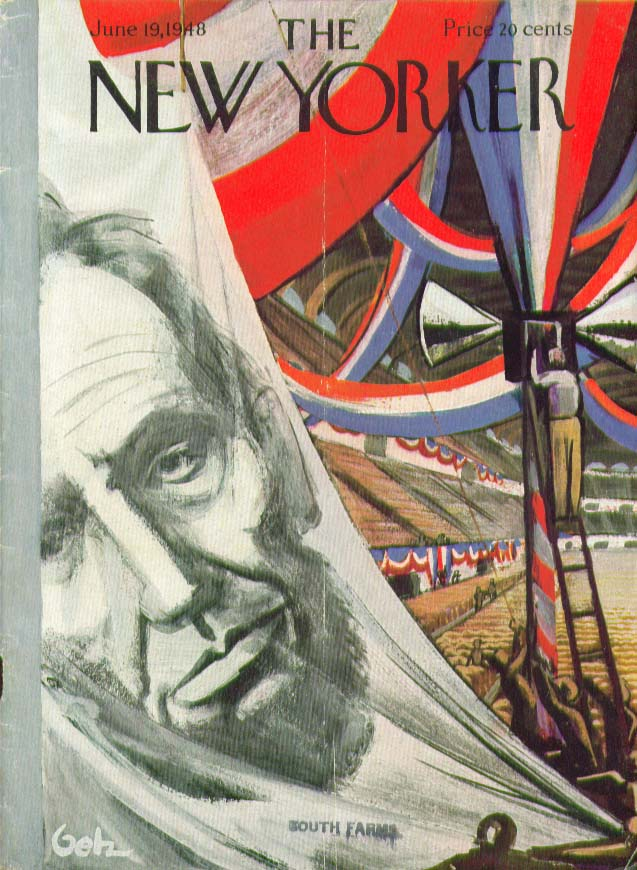 New Yorker cover Getz 4th of July Abe Lincoln 6/19 1948