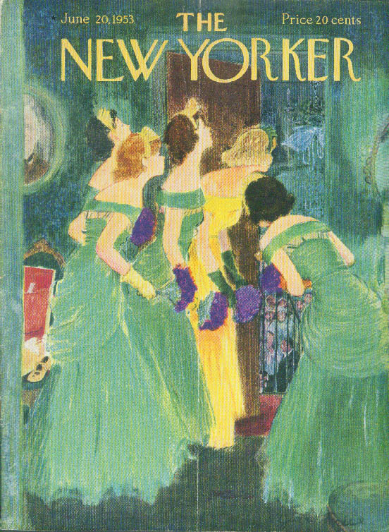 New Yorker cover Price bridesmaids looking in 6/20 1953
