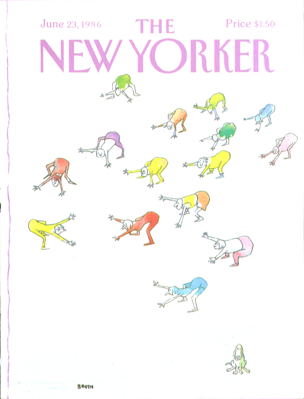 New Yorker cover Booth dog at exercise class 6/23 1986