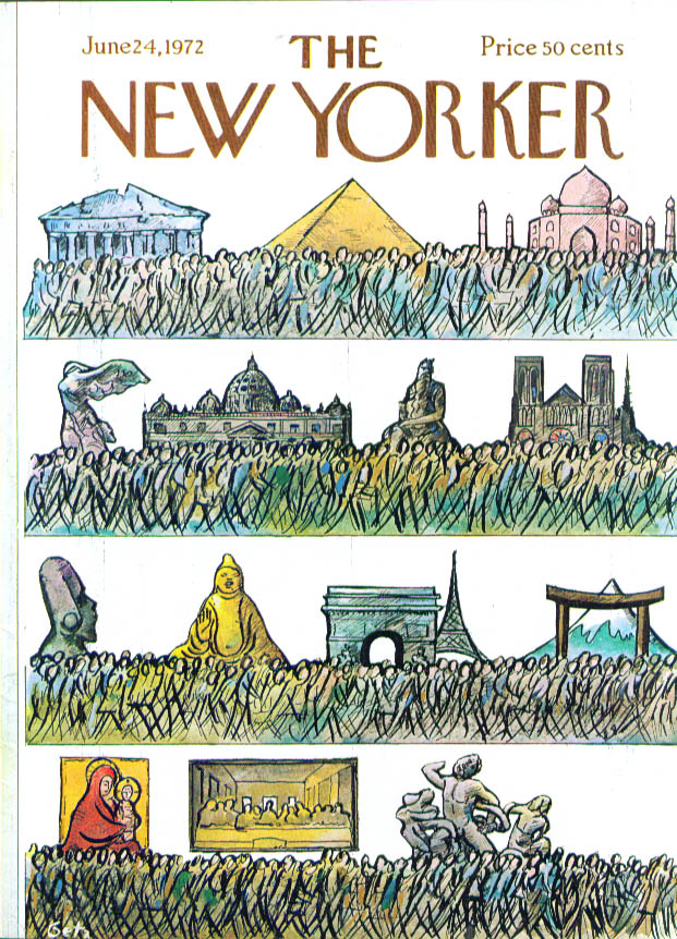 Image for New Yorker cover Getz mobs pass great sights 6/24 1972