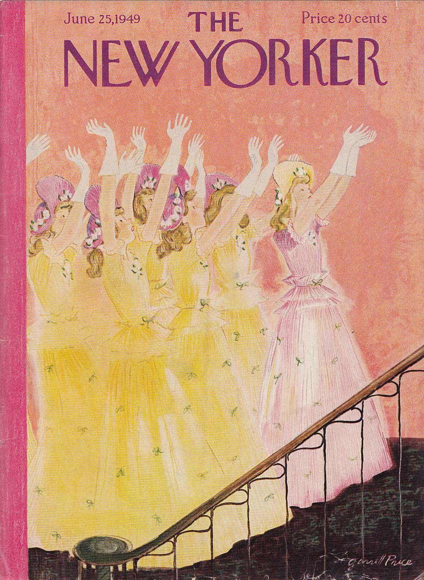 New Yorker cover Price bridesmaids bouquet 6/25 1949
