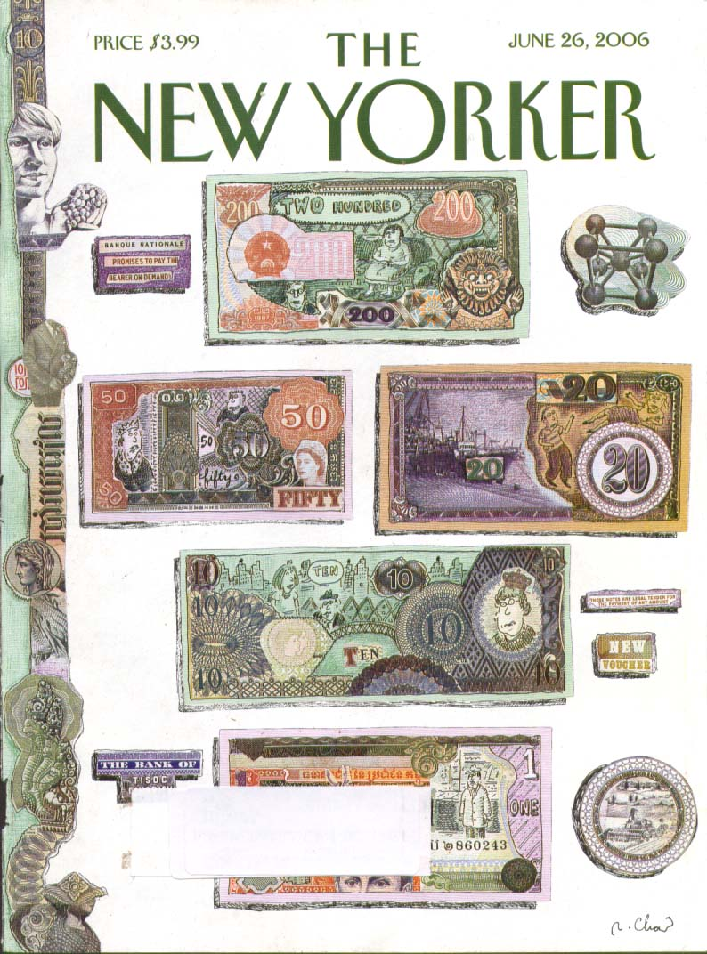 New Yorker cover Chast new world currency 6/26 2006