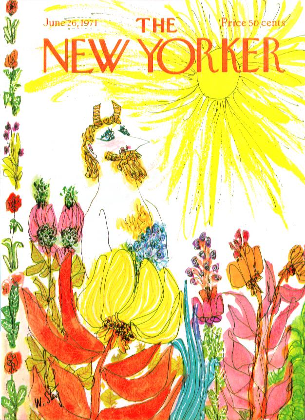 New Yorker cover Steig Centaur sunny garden 6/26 1971