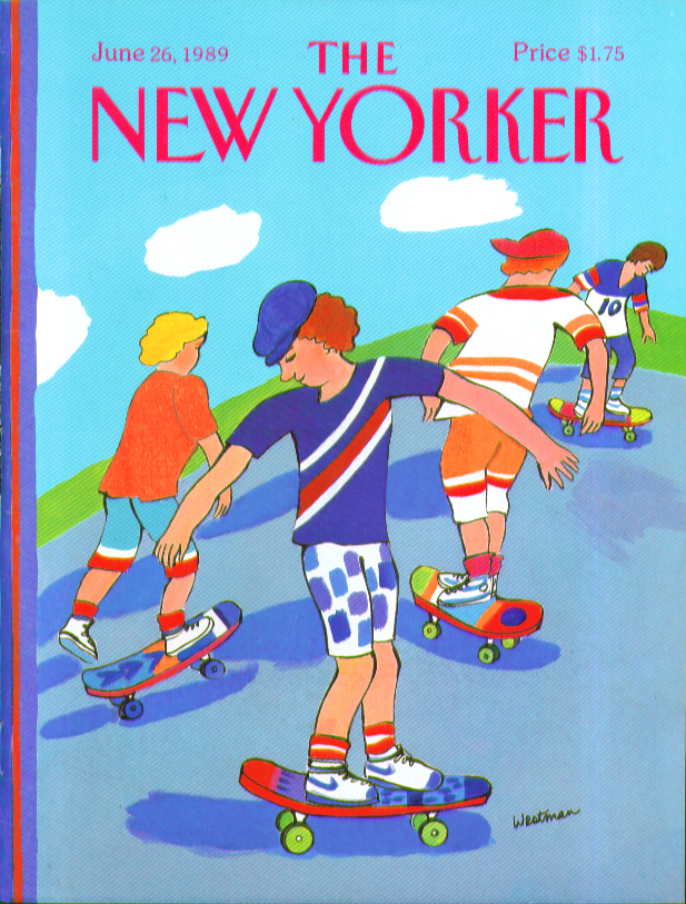 New Yorker cover Westman color skateboarders 6/26 1989