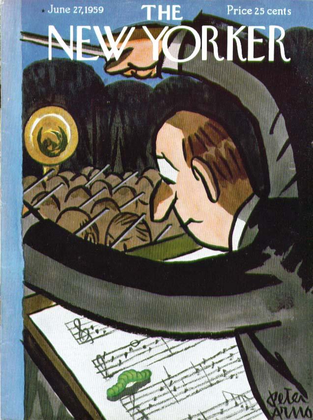 New Yorker cover Arno caterpillar music score 6/27 1959