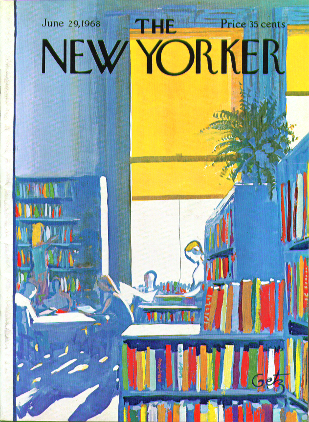 Image for New Yorker cover Getz school library 6/29 1968