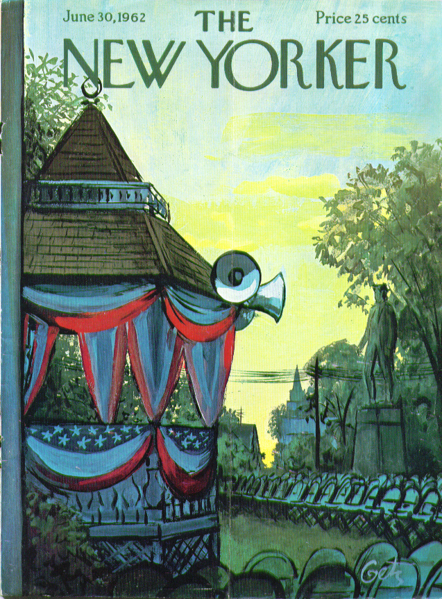 New Yorker cover Getz 4th of July gazebo 6/30 1962
