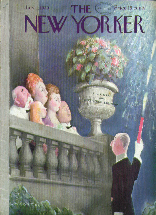 New Yorker cover Cotton butler does fireworks 7/1 1939