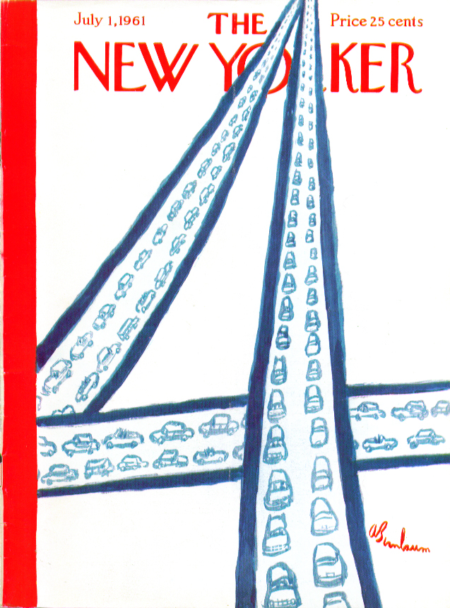 New Yorker cover Birnbaum figure four parkway 7/1 1961