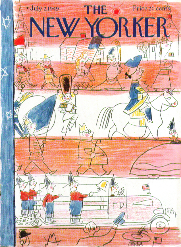 New Yorker cover Irvin small town parade 7/2 1949