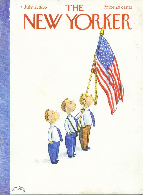 New Yorker cover Steig Pledge of Allegience 7/2 1955