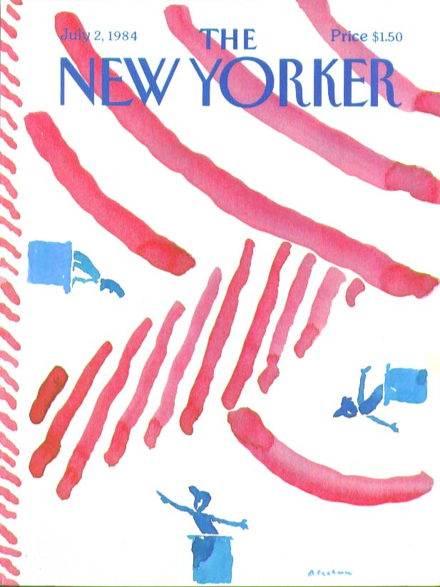 New Yorker cover Blechman speechifying politicians 7/2 1984