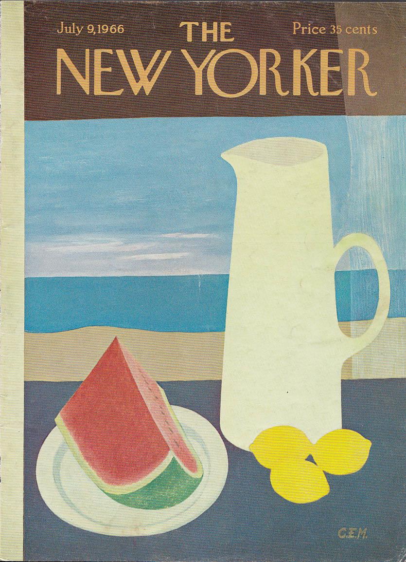 Image for New Yorker cover Martin watermelon & lemonade 7/9 1966